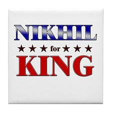 NIKHIL for king Tile Coaster