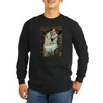 Ophelia / Cocker Spaniel (buff) Long Sleeve Dark T