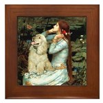 Ophelia / Cocker Spaniel (buff) Framed Tile