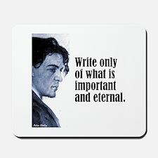 "Chekhov ""Write Only"" Mousepad"