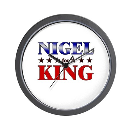 NIGEL for king Wall Clock