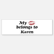 Kiss Belongs to Karen Bumper Car Car Sticker