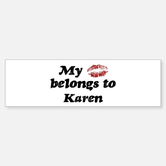 Kiss Belongs to Karen Bumper Car Car Sticker