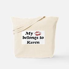 Kiss Belongs to Karen Tote Bag