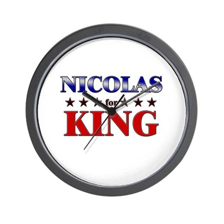 NICOLAS for king Wall Clock