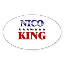 NICO for king Oval Decal