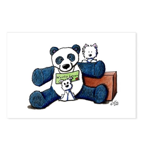 Panda Westie Lover Postcards (Package of 8)