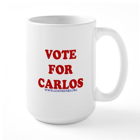 Vote for Carlos Large Mug