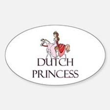 Dutch Princess Oval Decal