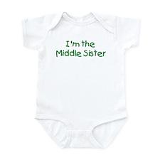 Middle Sister Kiddie Green Infant Bodysuit