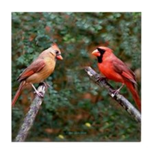 Two Cardinals Tile Coaster