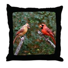 Right Two Cardinals Throw Pillow