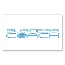 World: Business Coach Rectangle Decal