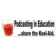 Podcasting in Education Bumper Bumper Sticker