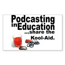 Podcasting in Education Rectangle Decal