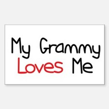 My Grammy Loves Me Rectangle Decal