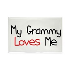 My Grammy Loves Me Rectangle Magnet