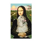 Mona Lisa /Cocker Spaniel Sticker (Rectangle)