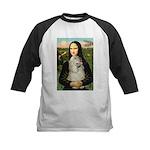 Mona Lisa /Cocker Spaniel Kids Baseball Jersey
