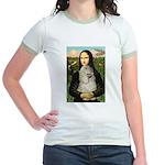 Mona Lisa /Cocker Spaniel Jr. Ringer T-Shirt