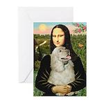 Mona Lisa /Cocker Spaniel Greeting Cards (Pk of 20