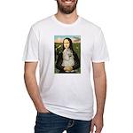 Mona Lisa /Cocker Spaniel Fitted T-Shirt