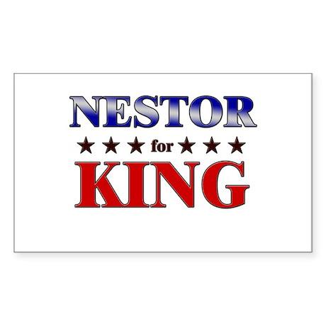 NESTOR for king Rectangle Sticker