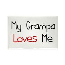 My Grampa Loves Me Rectangle Magnet