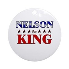 NELSON for king Ornament (Round)