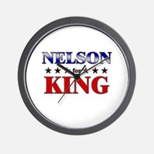 NELSON for king Wall Clock
