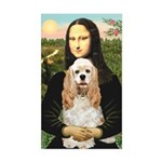 Mona Lisa / Cocker Spaniel Sticker (Rectangle)
