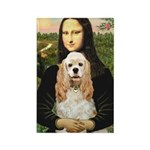 Mona Lisa / Cocker Spaniel Rectangle Magnet