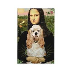 Mona Lisa / Cocker Spaniel Rectangle Magnet