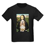 Mona Lisa / Cocker Spaniel Kids Dark T-Shirt