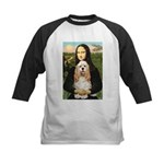 Mona Lisa / Cocker Spaniel Kids Baseball Jersey