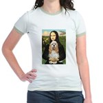 Mona Lisa / Cocker Spaniel Jr. Ringer T-Shirt