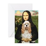 Mona Lisa / Cocker Spaniel Greeting Card