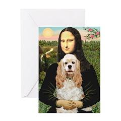 Mona Lisa / Cocker Spaniel Greeting Card