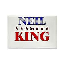 NEIL for king Rectangle Magnet