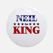 NEIL for king Ornament (Round)