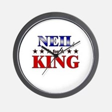 NEIL for king Wall Clock
