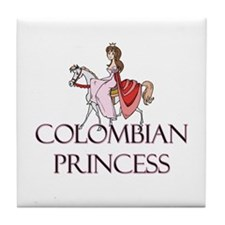 Colombian Princess Tile Coaster
