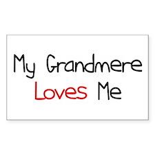 My Grandmere Loves Me Rectangle Bumper Stickers