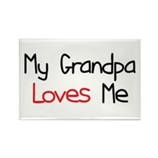 My Grandpa Loves Me Rectangle Magnet