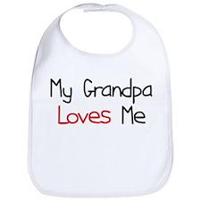 My Grandpa Loves Me Baby Bib