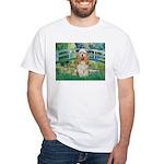 Bridge / Cocker Spaniel (buff) White T-Shirt