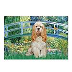 Bridge / Cocker Spaniel (buff) Postcards (Package