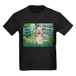 Bridge / Cocker Spaniel (buff) Kids Dark T-Shirt