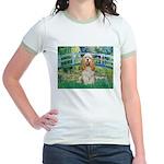 Bridge / Cocker Spaniel (buff) Jr. Ringer T-Shirt