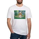 Bridge / Cocker Spaniel (buff) Fitted T-Shirt